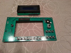 Controller PCB and LCD module. Front side.