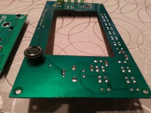 Controller PCB. Showing the 8-pin mini DIN connector used for programming.